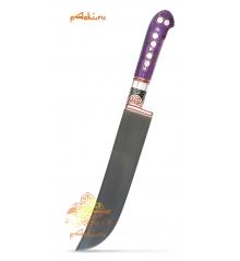 Узбекский нож пчак Фиолетовый от усто Хайрулло (ерма, углеродка)