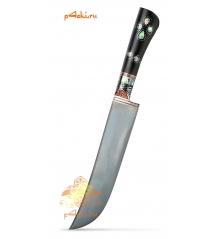 Узбекский нож пчак, черное дерево (граб) - Черная ночь