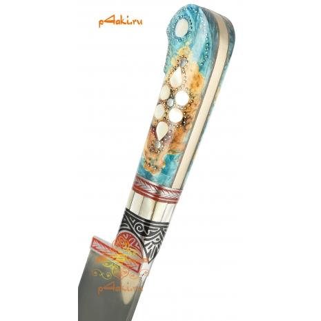 Узбекский нож пчак Горный хрусталь от усто Дониера
