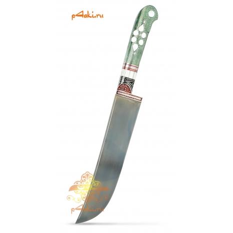 Узбекский нож пчак Зеленый от усто Хайрулло