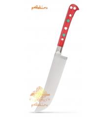 """Узбекский нож пчак """"Чирчик"""" с рукоятью из оргстекла - красный без бринча, нержавейка"""
