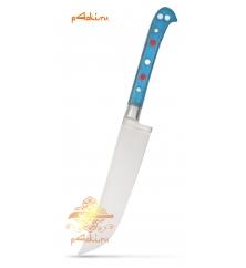"""Узбекский нож пчак """"Чирчик"""" с рукоятью из оргстекла - синий без бринча, нержавейка"""