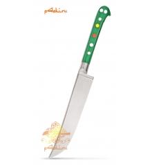 """Узбекский нож пчак """"Чирчик"""" с рукоятью из оргстекла - зелёный без бринча, нержавейка"""