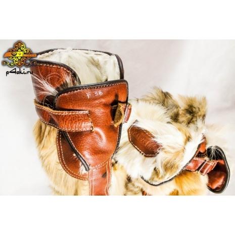 Монгольские женские сапоги двусторонняя собака 2