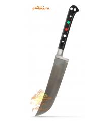 """Узбекский нож пчак """"Чирчик"""" с рукоятью из оргстекла - черный с бринчем, углеродка"""