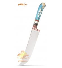 Узбекский нож пчак, кап клёна - Горный хрусталь, нержавейка