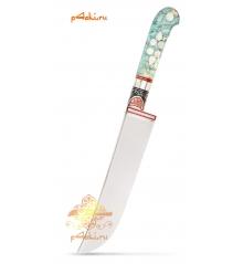 Узбекский нож пчак, кап клёна - Бирюзовый, нержавейка