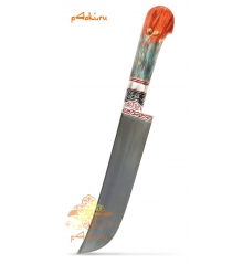 "Узбекский нож пчак от усто Дониера ""Арлекин"" красно-синий"