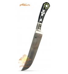 """Узбекский нож пчак """"Ферганское чудо"""", афганка от усто Ибрагима, эбонит"""
