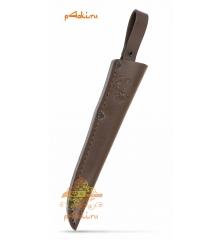 Фирменные кожанные ножны для узкого клинка (клинок 15 см)