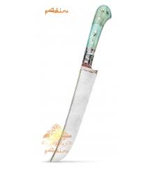"""Узбекский нож пчак из нержавеющего дамаска """"Сливовый спас"""""""