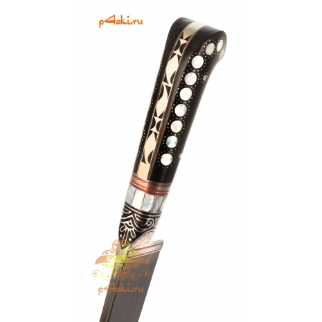 фотография рукояти узбекского ножа канка