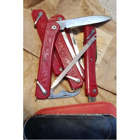 фотография складного трехпредметного ножа производства СССР
