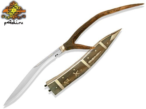 "Кукри Nepal Kukri House 10"" Dhankute Transparent White Horn"