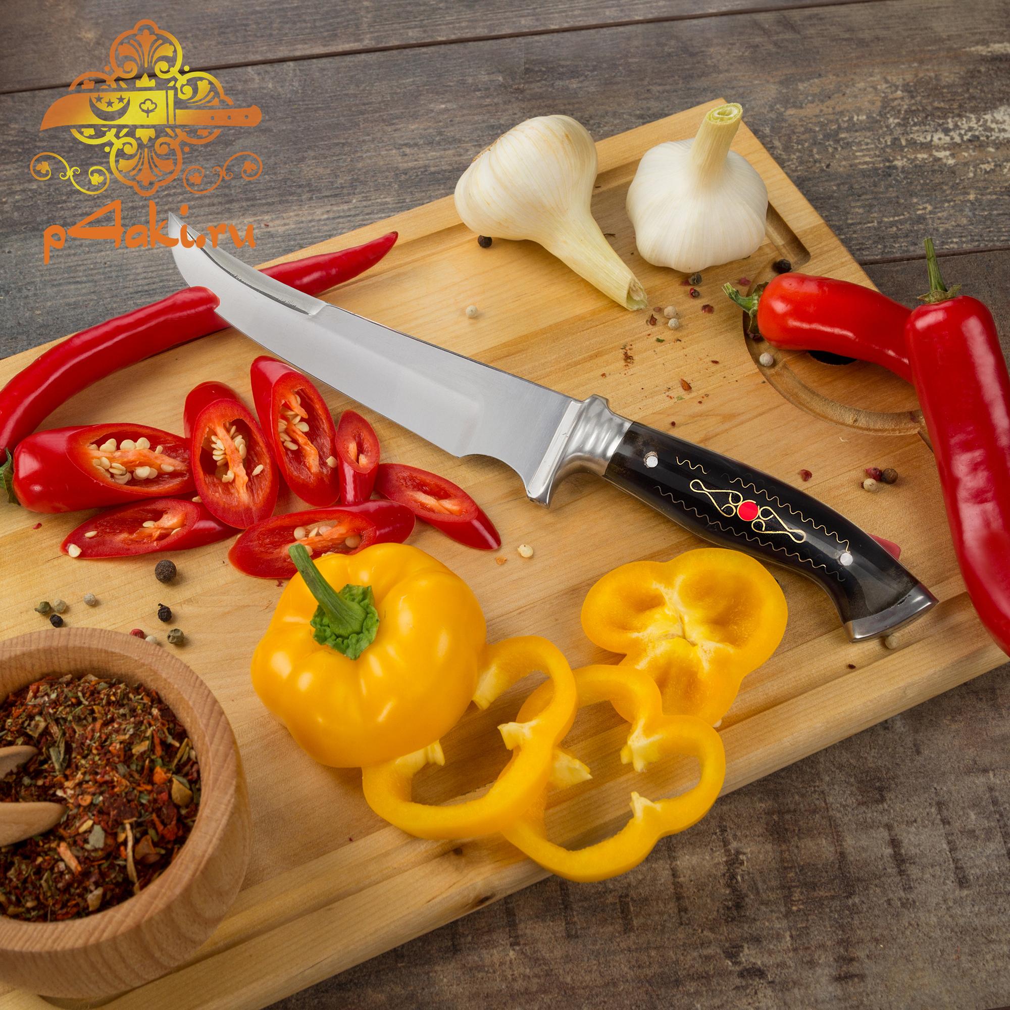 """Узбекский нож пчак """"Илон"""" (рукоять с накладным монтажом «Ерма доста») оргстекло"""